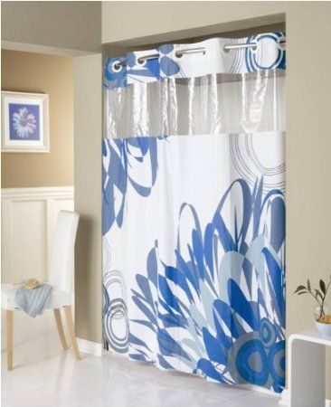 Amazon Com Hookless Peva Shower Curtain Graphic Floral Home