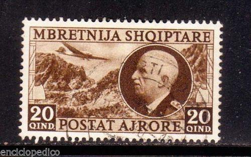 A311-ALBANIA-Posta-Aerea-n-4-60-timbratoi