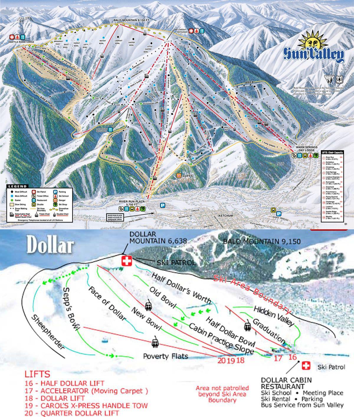 Sun Valley Idaho Map Sun Valley ~