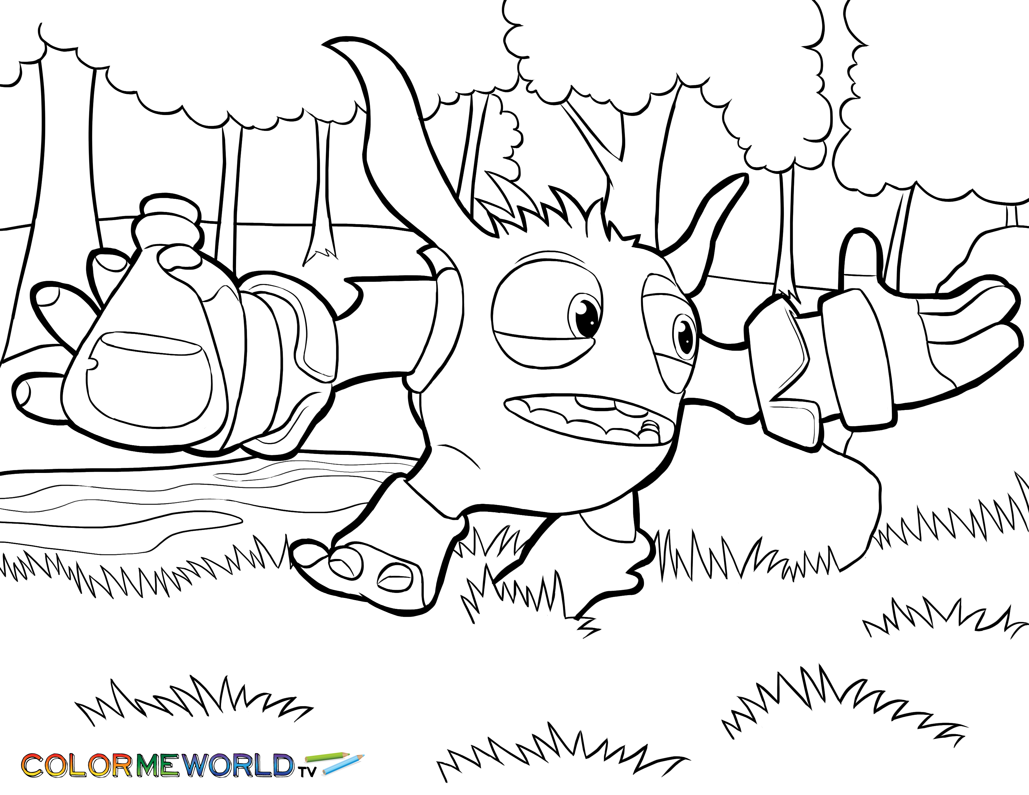 Stunning Skylander Coloring Pages