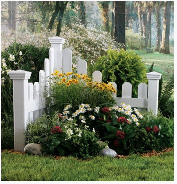 Backyard Flower Garden: Add A Small Corner Fence With Plants And Flowers To