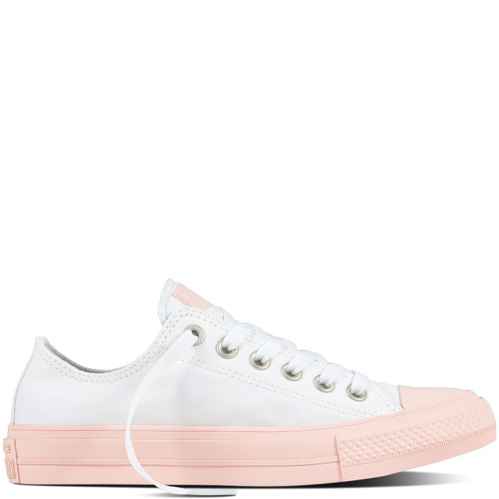 Converse Chuck Taylor All Star White & Vapor Pink Low ...
