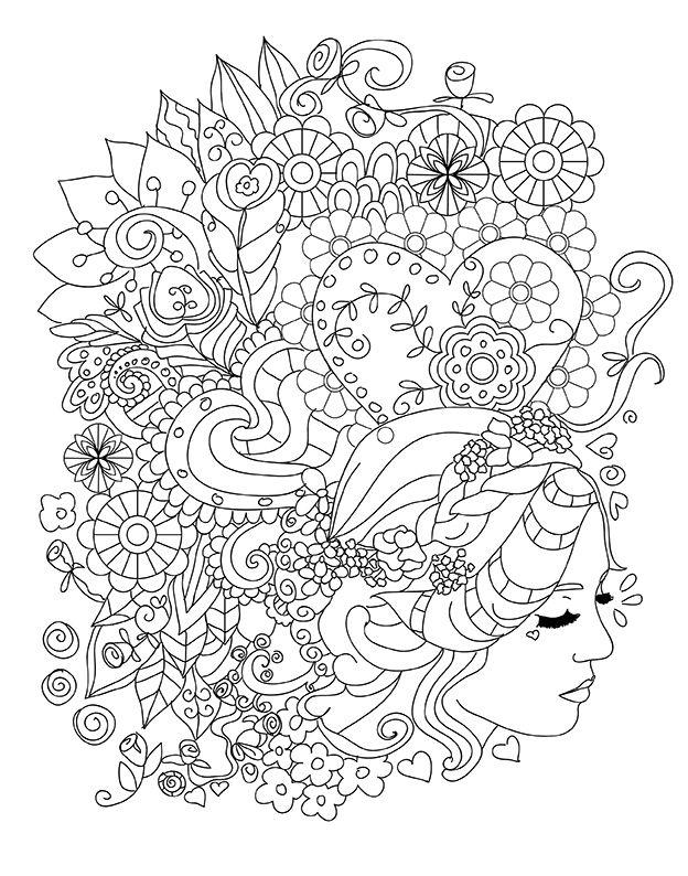 Buyukler Icin Boyama Kitabi Cizimleri Drawings Coloring Book For