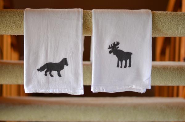 animal silhouette towel diy