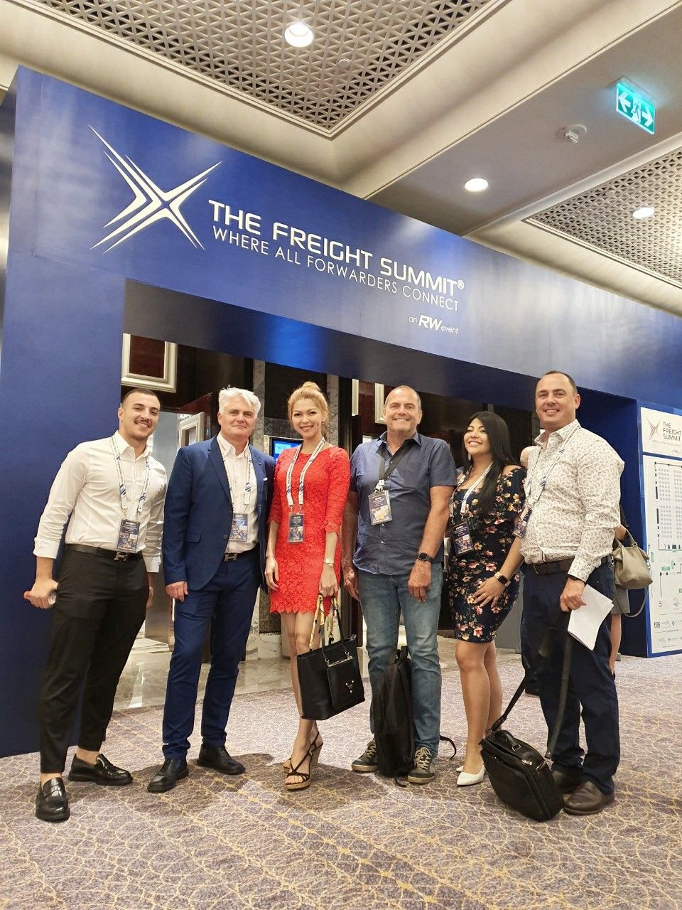 Another day of the woman in red ❤ I can say that all the meetings today went so well. 🥳 Let's get the business rolling! 🤝  #LanWork #FreightForwarder #TSLNaxco #TFS #TheFreightSummit #MacauTrip #LanInMacau #Macau
