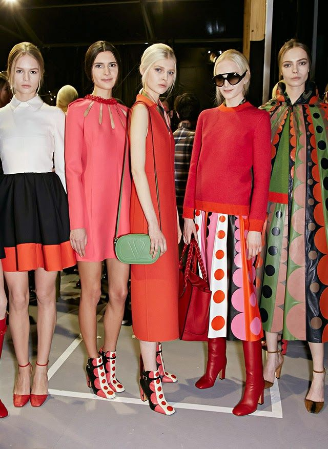 Miss Sixties Vintage Fashion- Valentino went back to the swinging 60's and the Pop Art movement