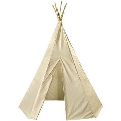 Want an adult teepee for the backyard. Cotton Canvas Teepee.