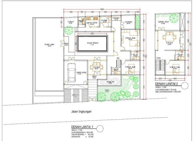 Desain Gambar Denah Kolam Renang Dan Rumah Minimalis 2 Lantai Gambar Dan Foto Rumah Minimalis Rumah Minimalis Denah Rumah Rumah
