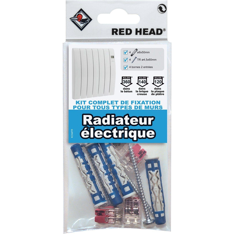 Kit De Fixation Pour Radiateur Avec Borne De Connexion In 2019 Products Bois Leroy Merlin Poele A Bois Brique Refractaire