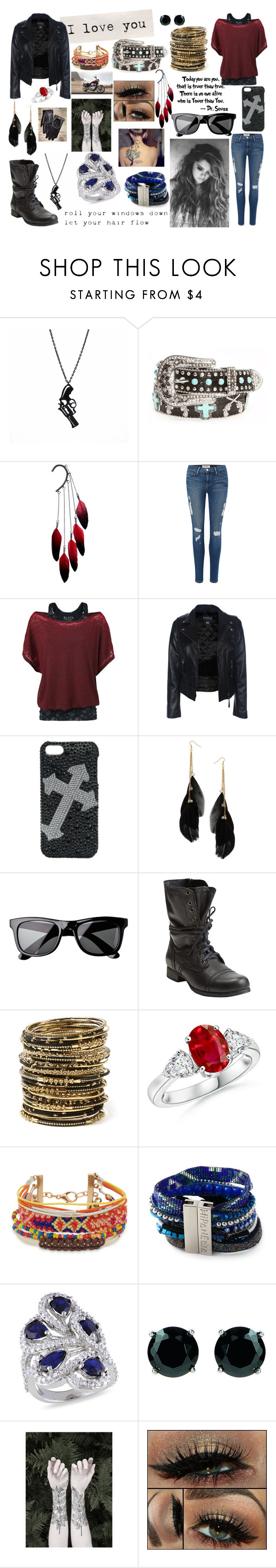 """roll the windows down"" by renee-love ❤ liked on Polyvore featuring Angel Ranch, Anni Jürgenson, Frame Denim, Blazin Roxx, Miss Selfridge, H&M, Steve Madden, Amrita Singh, Aéropostale and Hipanema"