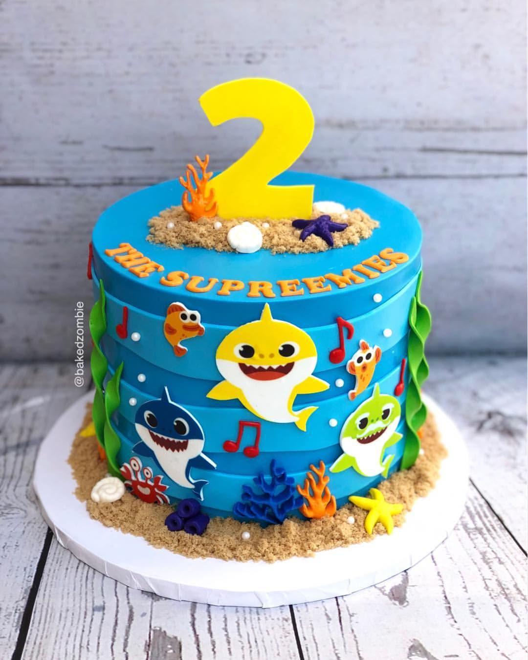 Baby Shark 🎶🎶 Baby shark, Shark birthday party, Boy