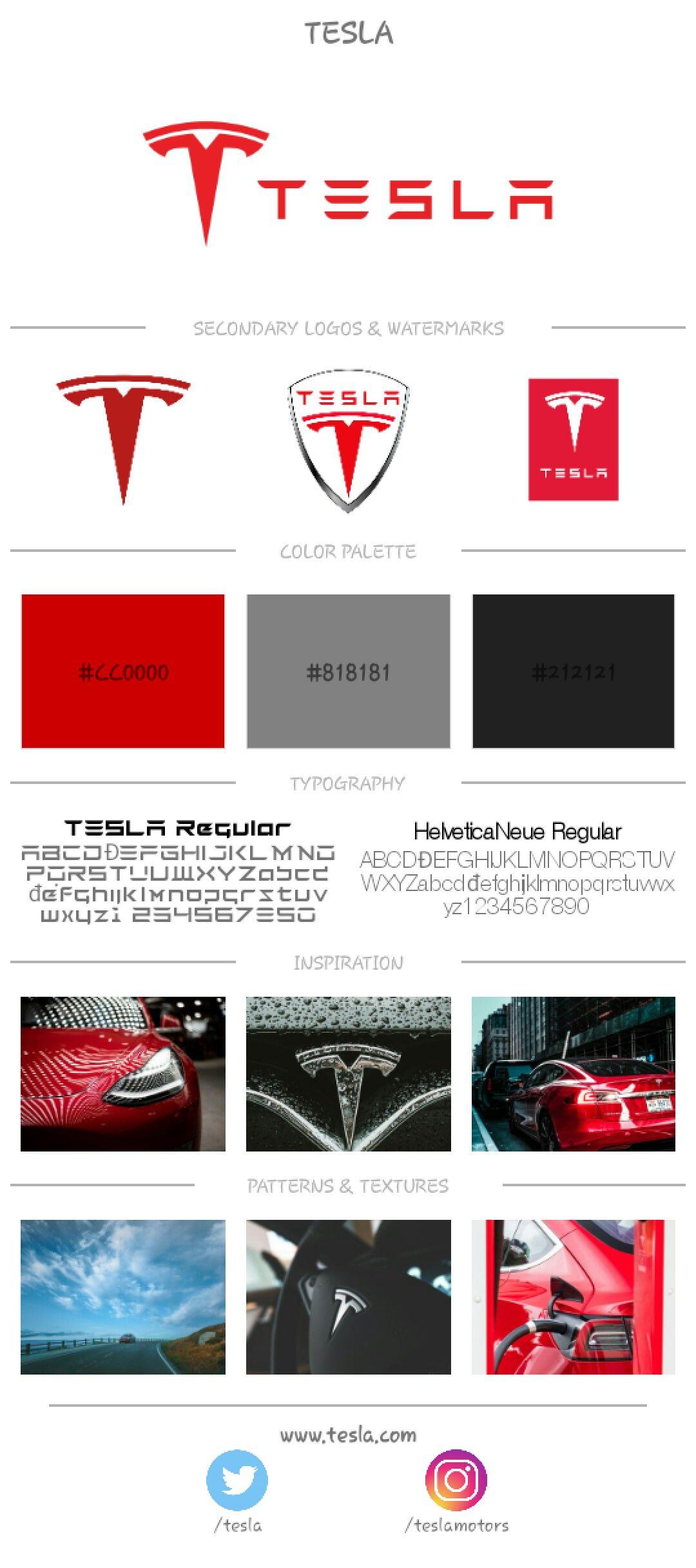 Tesla Branding Board Brand board, Brand identity design
