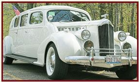 1939 Packard Limousine classic car rentals for weddings