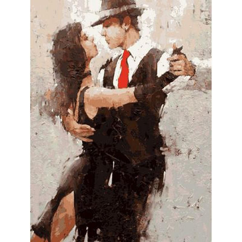 Dancing Salsa Couple Tango Art Dancer Painting Andre Kohn