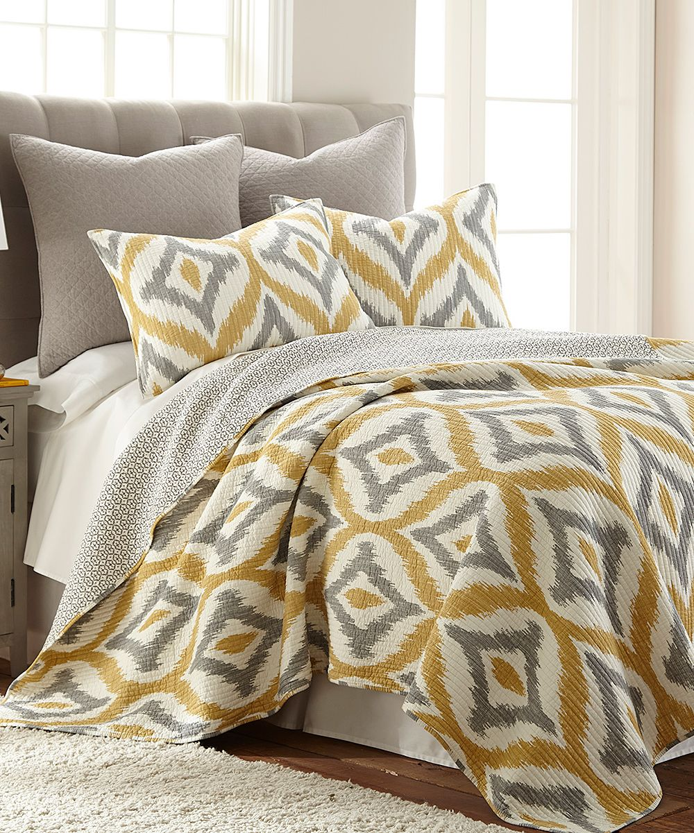 Amya Yellow Quilt Set Zulily Quilt Sets Yellow Quilts Home Bedroom