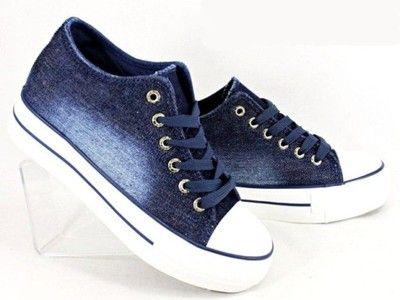 Tenisowki Trampki Na Koturnie Ciemny Jeans 6460955393 Oficjalne Archiwum Allegro Sneakers Louis Vuitton Shoes