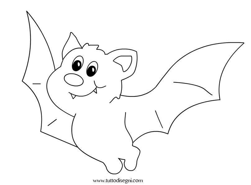 Disegni Per Bambini Pipistrello Da Colorare Tuttodisegni