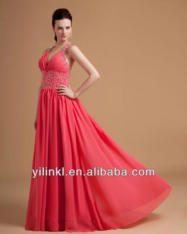 Vestidos de noche largos 2014 coral