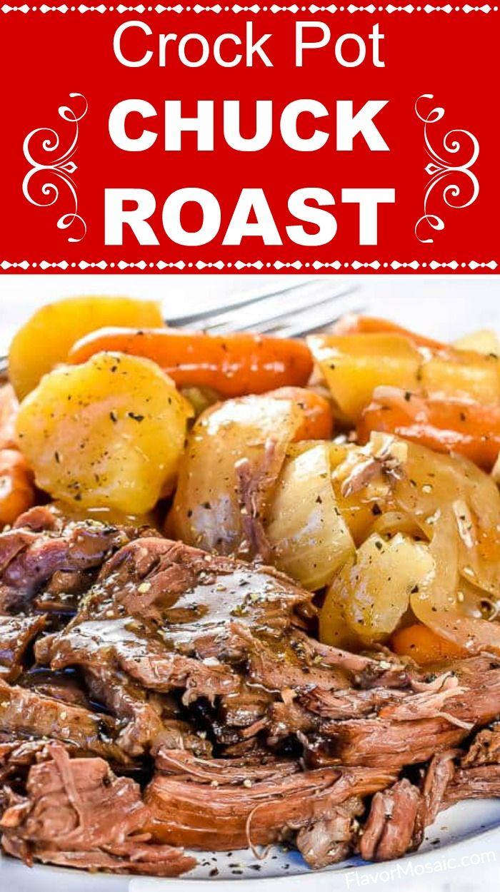 Tender Slow Cooker Chuck Roast (Crockpot Recipe) -