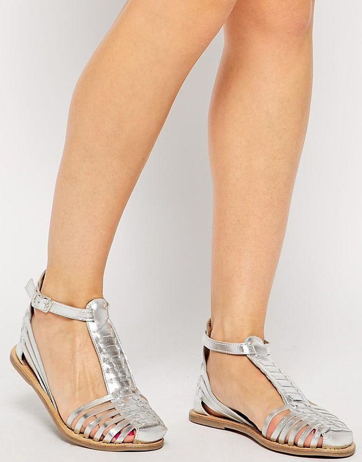 bf7e1e76ad55 Asos JOLIE T-Bar Leather Huarache Shoes on shopstyle.com