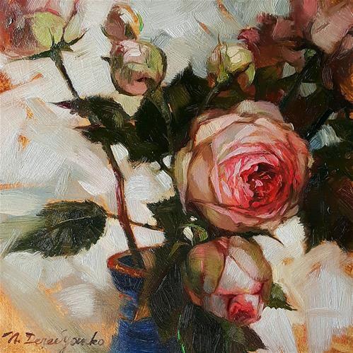 "Daily Paintworks - ""Rose dream"" - Original Fine Art for Sale - © Natali Derevyanko"