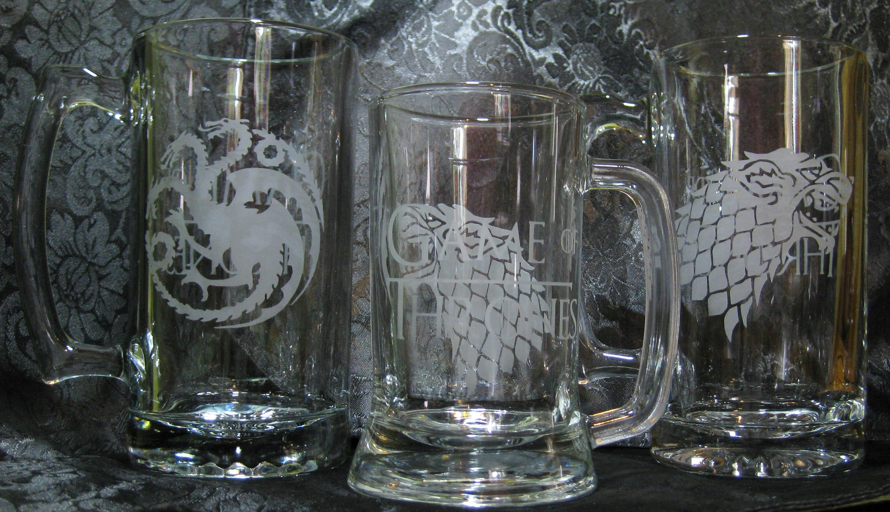 Game of Thrones Beer Mugs by Whiskey Wine & Good Chimes
