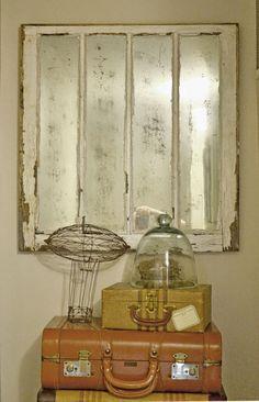 Liz Mathews Mercury Glass Window Pane Mirror Mercury Glass Diy Window Pane Mirror Mercury Glass Decor