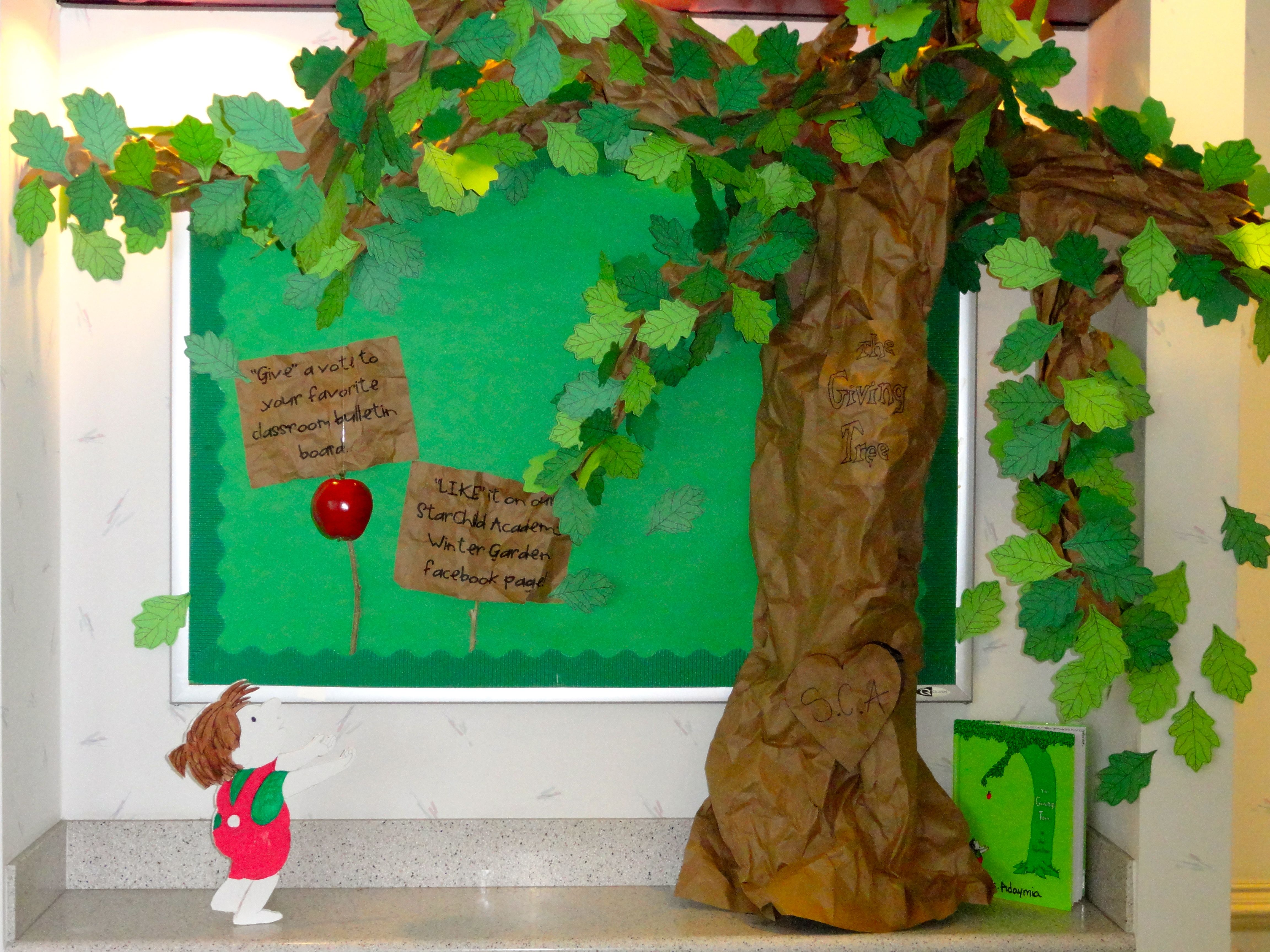 Favorite Book Bulletin Board competition...The Giving Tree ...
