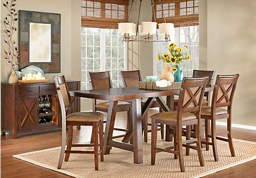 Mango Burnished Walnut 5 Pc Counter Height Dining Room | Room set ...