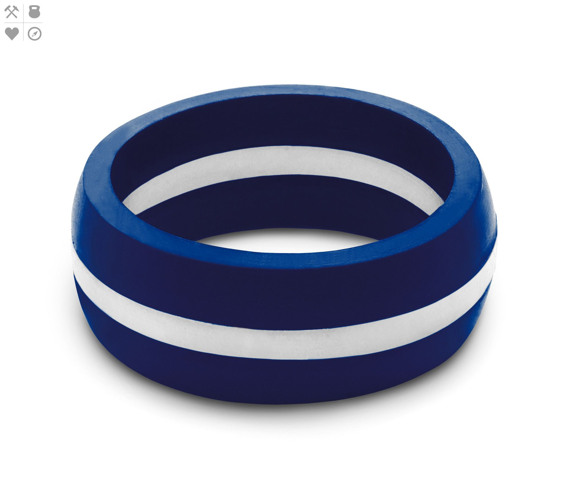 Mens Thin White Line Silicone Ring from QALO just cool Pinterest