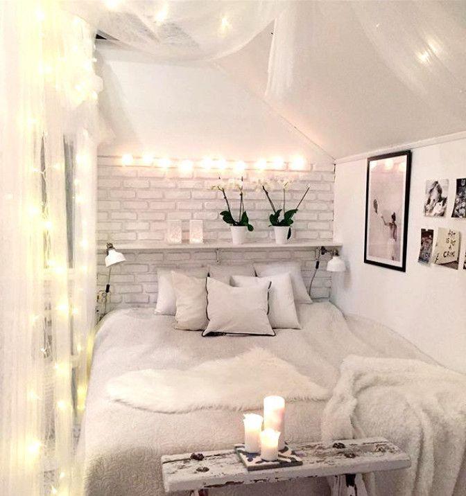 reich an träumen  strahlend weißes schlafzimmer mit