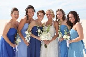 Bridesmaid Dresses In Different Shades Of Blue Cornflower Blue Bridesmaid Dresses Blue Bridesmaids Blue Bridesmaid Dresses