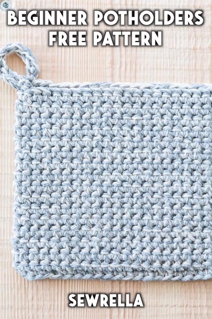 Photo of Beginner Crochet Potholders – free pattern