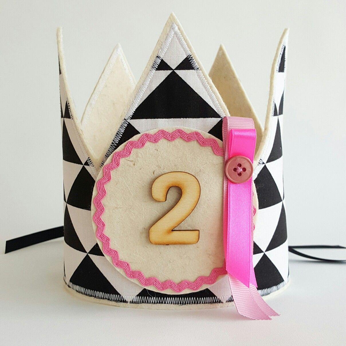 verjaardagskroon  zwa / wit www.hipkado.nl