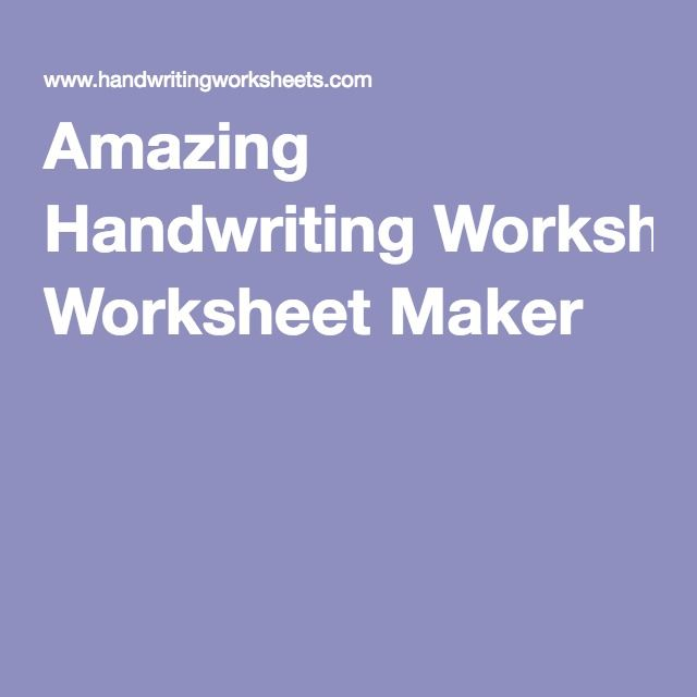 Amazing handwriting worksheet maker mrs meyer reading pinterest amazing handwriting worksheet maker ibookread PDF