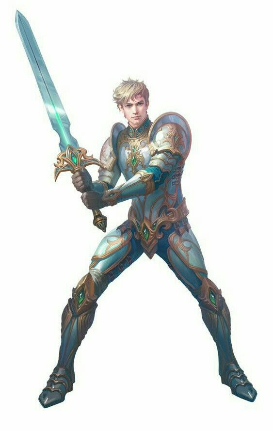 Human Male Fighter Knight - Pathfinder PFRPG DND D&D d20 fantasy