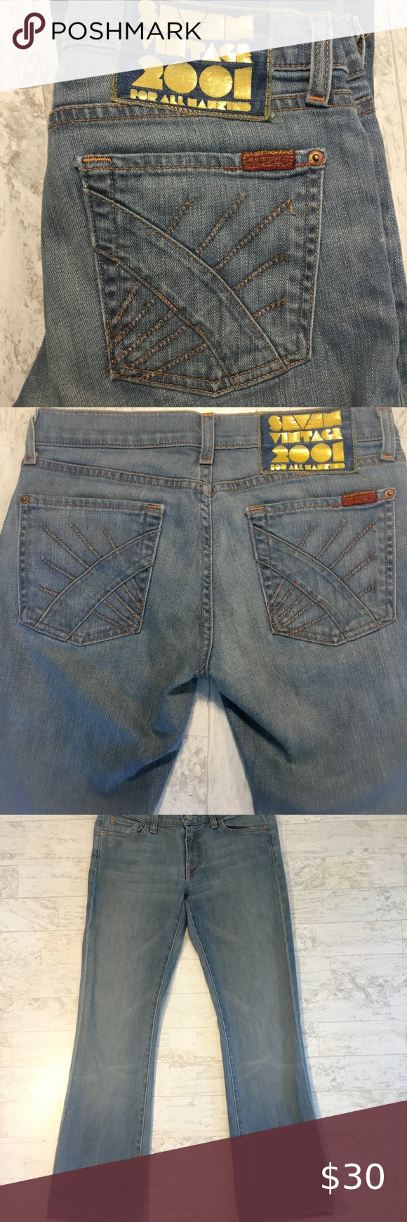 Gran roble Malversar Fruta vegetales  7 For All Mankind | Seven Vintage 2001 | 27 in 2020 | 7 for all mankind,  Jeans and boots, Clothes design