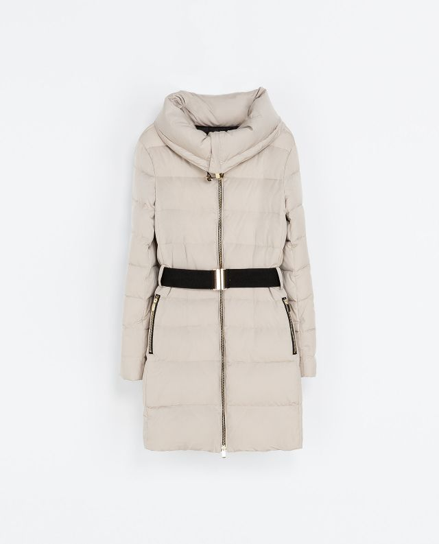 83c49e28c I discovered this PUFFER JACKET WITH WRAPAROUND COLLAR - Outerwear ...