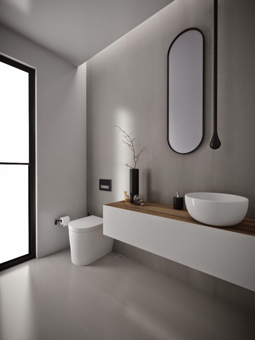 minosa design: powder room - something different is becoming