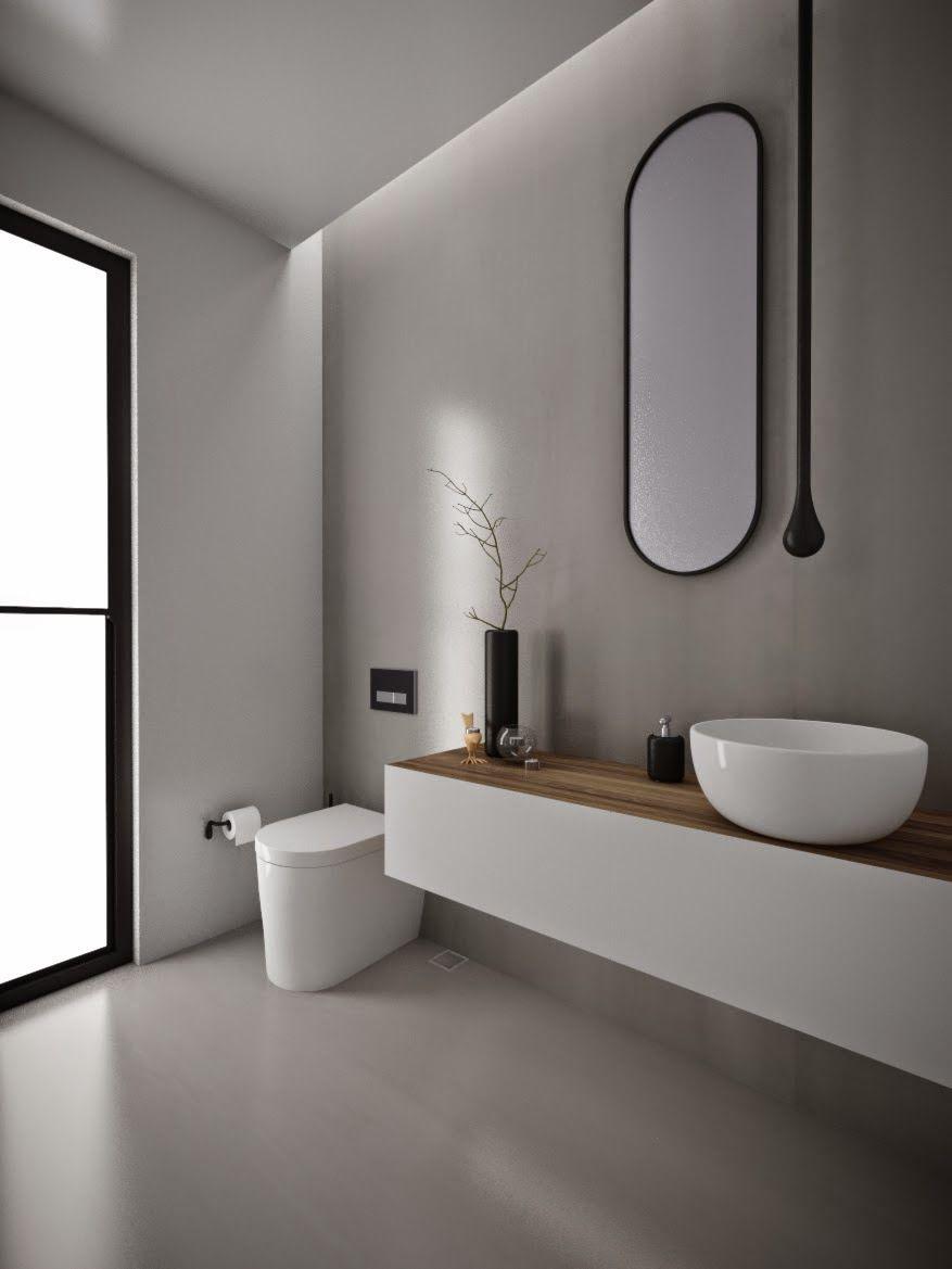 Salon De Bain Moderne minosa design: powder room - something different is becoming