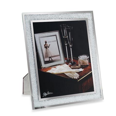 Oleg Cassini Crystal Diamond 8 Inch X 10 Inch Picture Frame Mirrored Picture Frames Diamond Picture Picture Frames