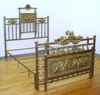 This Is An Early 1800 S Brass Bed From England Note The Tall Headboard And Attachment At The Top This Is Called A Hal Brass Bed Victorian Furniture Iron Bed