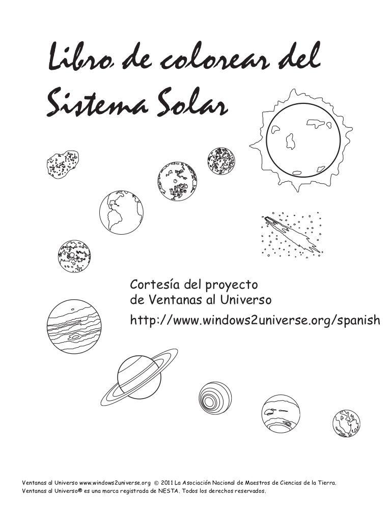Libro de colorear del Sistema Solar Cortesía del proyecto de Venta ...