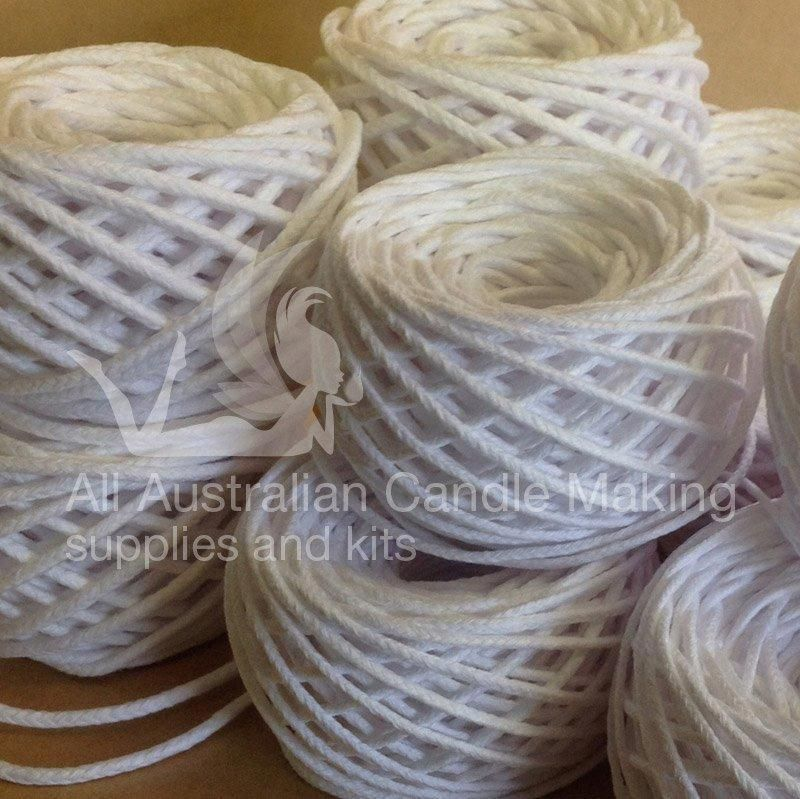 Square Cotton Wick - Medium - All Australian Candle Making Supplies and Kits #candlemakingbusiness