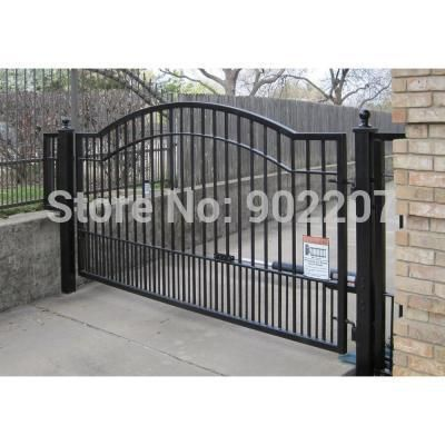 Custom Wrought Iron Gates 12 Ft X 5 Ft 6 In Powder Coated Steel