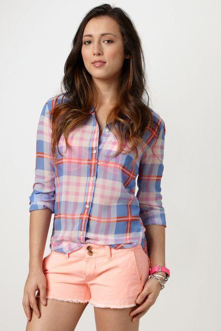 AEO Sheer Chiffon Shirt, Women's, Size: 2XL, Blue