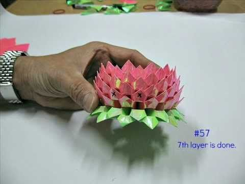 How To Make An Origami Lotus 2nd Version 折纸莲花 Youtube