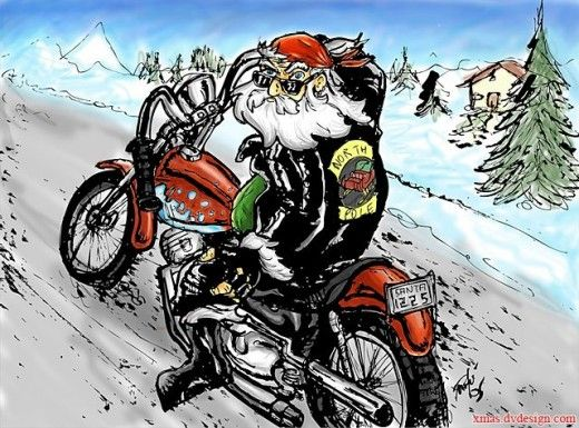 Motorcycle Santa Christmas Wallpapers Motorcycle Christmas
