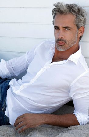 Antonio Borges Model From Brazil Look At Those Lips I Want To Kiss Them Grey Hair Men Stylish Men Top Hairstyles For Men