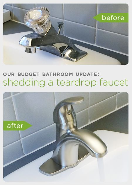Before and After Our Budget Bathroom Update How to